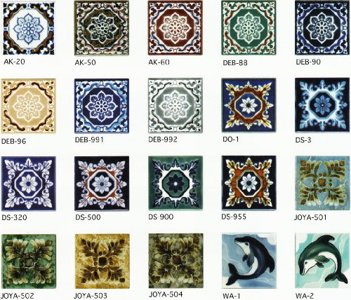 85角 デザインタイル アンティーク イスラム風(昭和レトロ)な絵タイルです。インテリア 壁、床(キッチン カウンター・テーブル・浴室) のDIYリフォームにお勧めです。モザイクタイル、 コースター、鍋敷き等、インテリア雑貨としてもOK