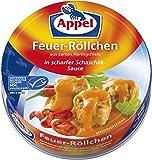 Appel Feuer-Röllchen, aus zerkleinerten Heringsfilets in scharfer Schaschlik-Sauce, MSC zertifiziert, 12er Pack (12 x 200 g)