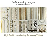 Classy-Bohemian-Temporary-Metallic-Tattoos-for-Body-and-Hair-10-Sheets