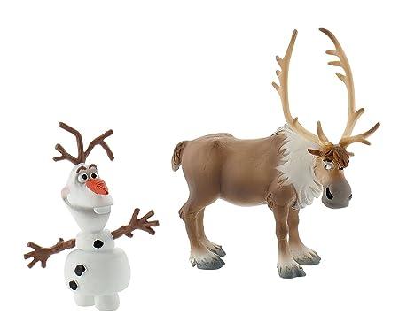 Bullyland - 13061 - Figurine - Reine de neige - Mini Olaf et Sven