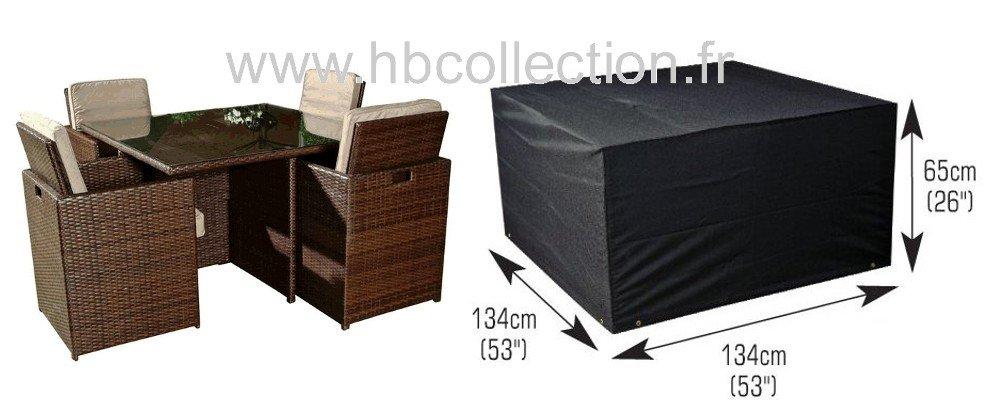 deluxe polyester abdeckhaube schutzh lle schutz plane f r quadrat garten sitzgruppen 4 sitzer. Black Bedroom Furniture Sets. Home Design Ideas