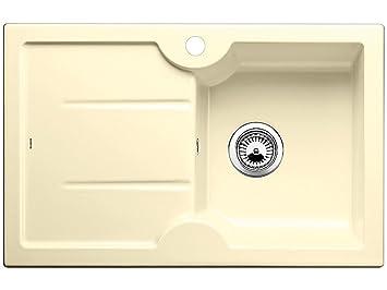 Blanco Idessa 45 S Vanilla Beige Auflagespüle Keramik Einbau Spüle  Küchenspüle