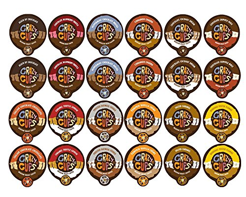 Crazy Cups Flavored Coffee and Chocolate Flavored Coffee, Single Serve Cups Variety Pack Sampler for the Keurig K Cup Brewer, 48 count (Keurig Cups Subscribe And Save compare prices)