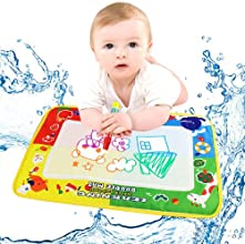Nicerocker Hot Selling 4 Color Water Drawing Painting Mat Board ampMagic Pen Doodle Kids Toy Gift