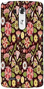 Snoogg Abstract Floral Background Designer Protective Back Case Cover For LG G3