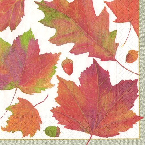 Paper Napkins Fall Party Ideas Fall Wedding Thanksgiving Dinner Autumn Leaves Lunch Napkins Pk 40