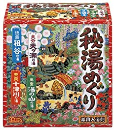 Hot Spring Series Bath Salt Assorted (Hito Meguri) [12 units] by Earth.