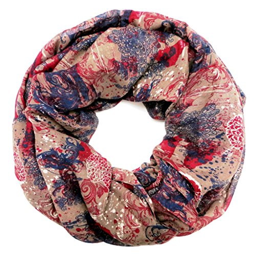 accessu-Echarpe-Foulard-pour-Femme-Floral-Lace-Print-redbluebeige