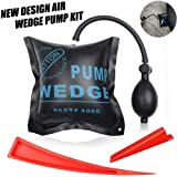 ARISD Car Air Wedge Pump Wedge Kit – Leveling Kit & Alignment Tool Inflatable Air Shim Bag for Home Use and Auto Repair (Color: Black)