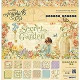 Graphic 45 Secret Garden Pad, 12 by 12-Inch
