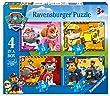 Ravensburger - Paw Patrol - 4 Puzzles de la Pat Patrouille - 12, 16, 20, 24 Pi�ces - 14x19 cm
