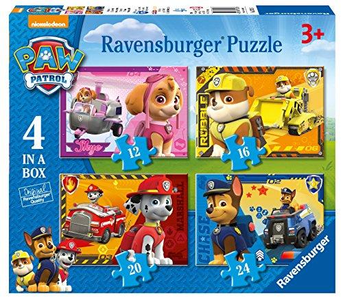 Ravensburger - Paw Patrol, Set di 4 puzzle, 12, 16, 20, 24 pz.