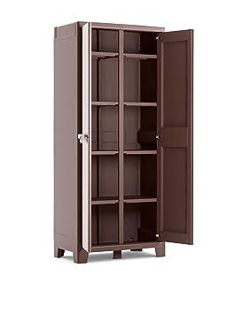 Furniture Buy Cheap Armadio Da Esterno In Plastica Armadietto In Resina A 2 Ante Grigio 68x42x170h Armoires & Wardrobes