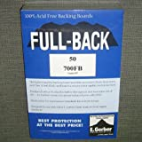 "E. Gerber Full-Back Standard Comic Size Acid-Free Backing Boards 7"" x 10 1/2"" Pack of 50"