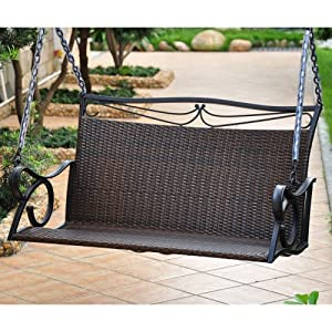 Stunning You can observe bargains parisons cost also customer reviews just before Buy Lisbon Resin Wicker Patio Loveseat Porch Swing