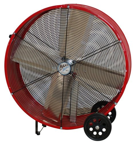 36 Inch Direct Drive Fans : Maxxair bf dd red high velocity direct drive drum fan