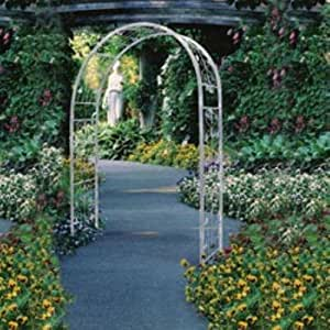 Austram Vintage 7.25-ft. Zinc-Plated Steel Arch Arbor Color - French Ivory