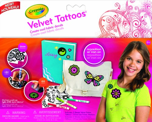 Crayola Velvet Fabric Tattoos