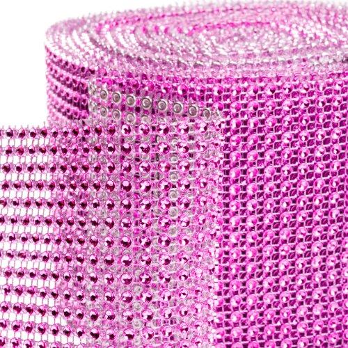 Dress My Cupcake Diamond Rhinestone Wrap, 10-Yard, Fuchsia front-27837