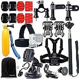 FUNNYKIT 11 in 1 Accessories Kit set bundle sj4000 sj5000 Helmet Harness+ Chest Belt +Head Mount Strap +Monopod Accessory Kit for Gopro camera Hero4/3/2/1/Session 3+