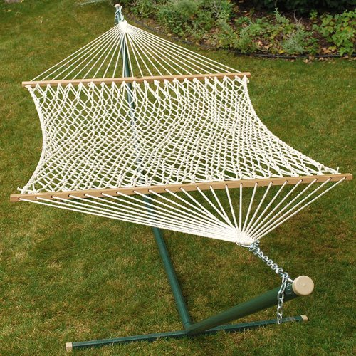 84″ x 63″ Hand Crafted Natural Cotton Rope Double Hammock