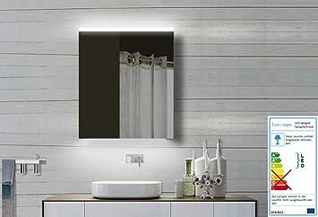 TOP Specchio design specchio mobiletto del bagno con telaio in alluminio 60x70x12cm