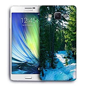 Snoogg Snow In Forest Designer Protective Phone Back Case Cover For Samsung Galaxy A7