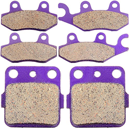 ECCPP® Front and Rear Kevlar Carbon Brake Pads Fits 2004 2005 YAMAHA YFZ 450 (Yamaha 450 Yfz Accessories compare prices)