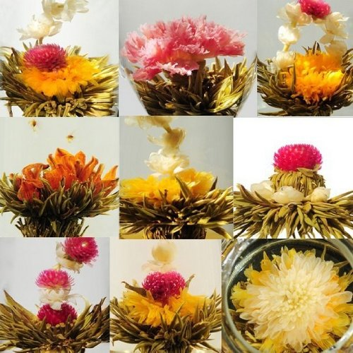 Amaranteen - 20 Kinds Artistic Blooming Flower Tea Romance In Cup Blossom 20 Kinds Blooming Tea Ball China Scented Tea Art Different Suprise