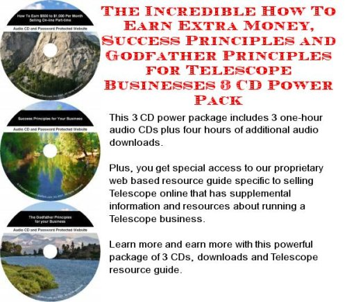 The Best How To Earn Extra Money, Marketing And Success Principles For Telescope On-Line Businesses 3 Cd Pack