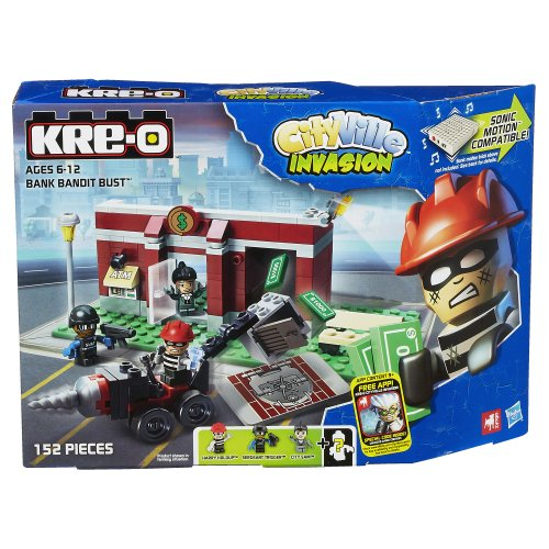 KRE-O CityVille Invasion Bank Bandit Bust Set (A3253)
