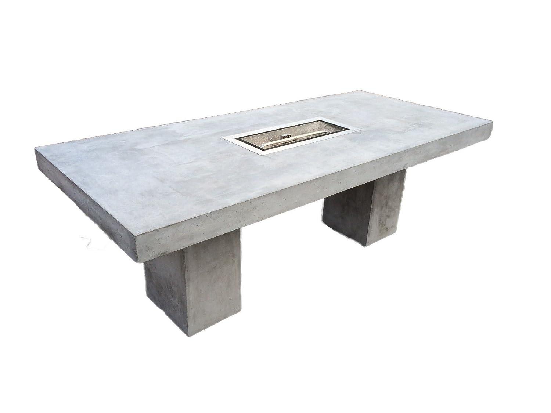 Beton Feuertisch 200×90 cm Gasgrill aus Edelstahl jetzt kaufen