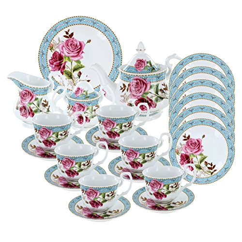 Buy Discount Antiquated Rose Deluxe Tea Set