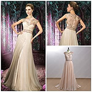 Amazon.com : Long Elegant Prom Dresses WIth Sleeves Vestidos De Fiesta