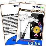 LG K4 Glas Glasfolie 9H Panzerglas Panzerglasfolie