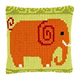 Vervaco Elephant Cross Stitch Cushion Multi Colour