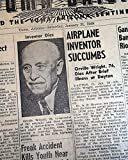ORVILLE WRIGHT DEATH Brothers & Assassination of Mahatma Gandhi 1948 Newspaper * THE YUMA VALLEY SUN, Arizona, January 31, 1948