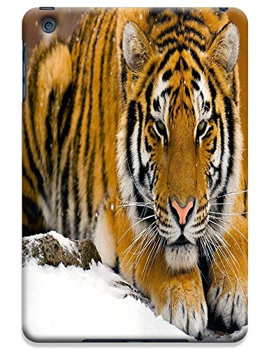 Fantastic Faye Cell Phone Cases For Ipad Mini No.12 The Special Design With Cute Foolishly Gray Pure Tiger On The Water Grass