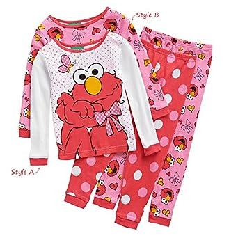 Amazon Sesame Street Elmo Toddler Girls Cotton Pajama