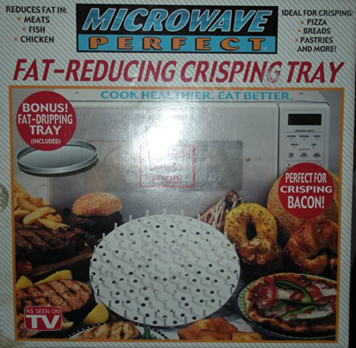 As Seen On Tv Microwave Perfect Fat-Reducing Crisping Tray