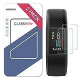 Garmin Vivosport Screen Protector, Wimaha 2 Pack Tempered Glass Screen Protector for Garmin Vivosport Smartwatch Ultra Clear Scratch Resistant Bubble Free
