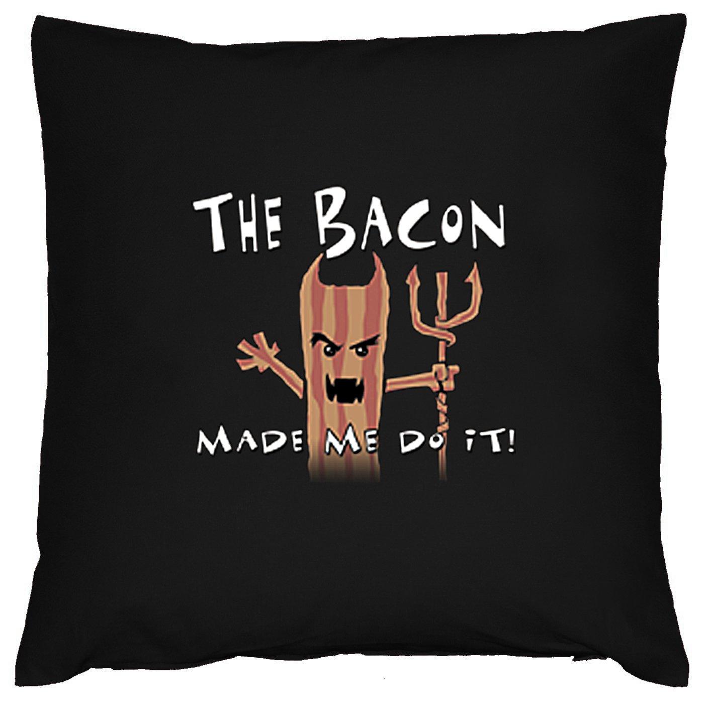 Bacon Pommes Deko Kissen mit Füllung Farbe: schwarz Größe: 40x40cm online bestellen