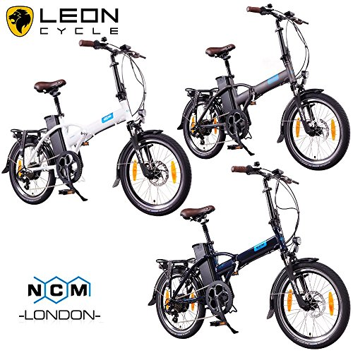 NCM London 2016, 20 Zoll Elektrofahrrad,E-Faltrad,E-Bike,Pedelec,Klapprad,36V 250W Bafang Motor, 36V Li-Ion Akku mit 14Ah PANASONIC Zellen,weiß,dunkel blau,schwarz,anthrazit