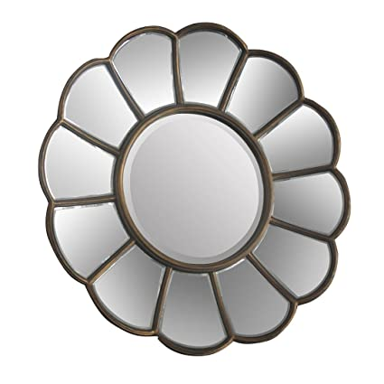 Protege Homeware Metal / Mirrored Glass Gold Verona Floral Wall Mirror