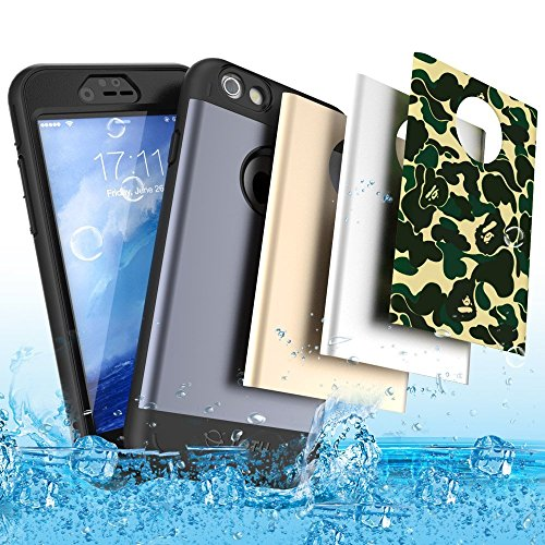 iPhone 6s Case, TOTU Rugged Water Resistant Case Full-body Accessories Sport Armor with Built-in Screen Protector and 4 Interchangeable Covers for iPhone 6 / iphone 6s