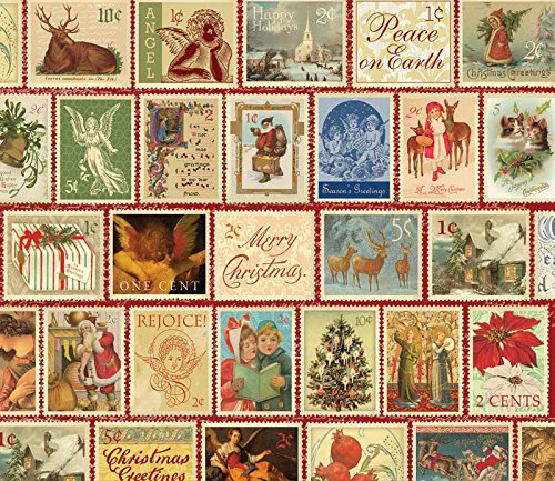 SunsOut Christmas Stamps Jigsaw Puzzle (550-Piece)