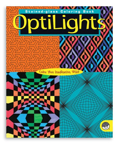 MindWare OptiLights Stained Glass Coloring Book Creativity Artist Vellum Pages
