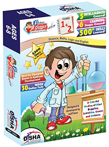 Perfect Genius Junior for Class 1 & 2 (Olympiads, Science, Maths, EVS, Logic and English) ages 6 to 8 with 30 Online Practice Tests