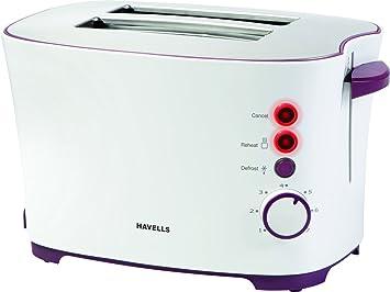 Havells Feasto 850-Watt Pop-up Toaster (White)