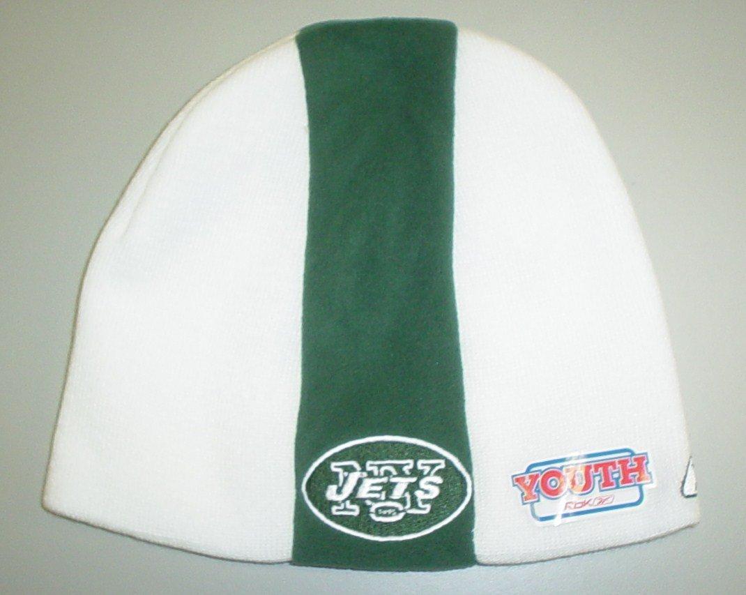 NEW York Jets Sideline Cuffed Knit Reebok Hat - Youth (4 - 7 Yrs) chicago bears classic cuffed winter knit hat orange